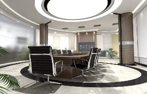 commercial interior designed Monroeville AL conference room